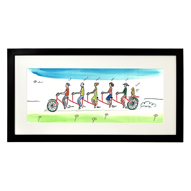Personalized Family Tandem Bike Art 4