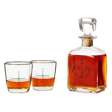 You Anchor Me Decanter Set