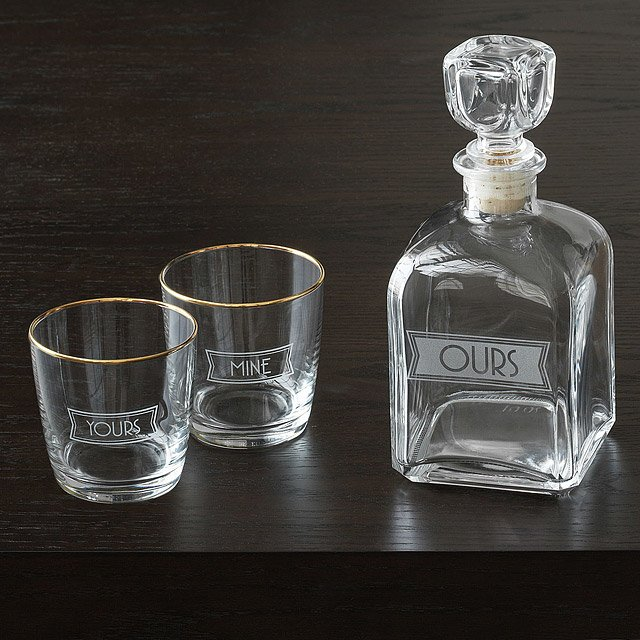 Yours, Mine, and Ours Decanter Set 2