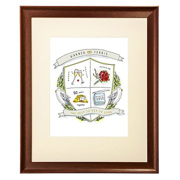 Personalized Anniversary Crest