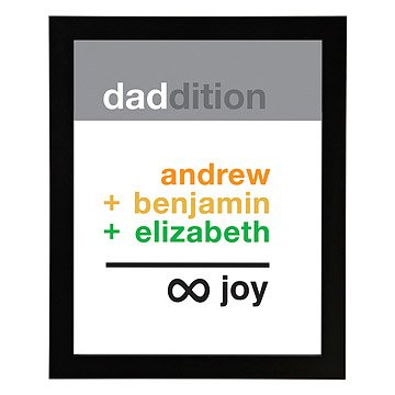 Dad Infinite Joy Personalized Art