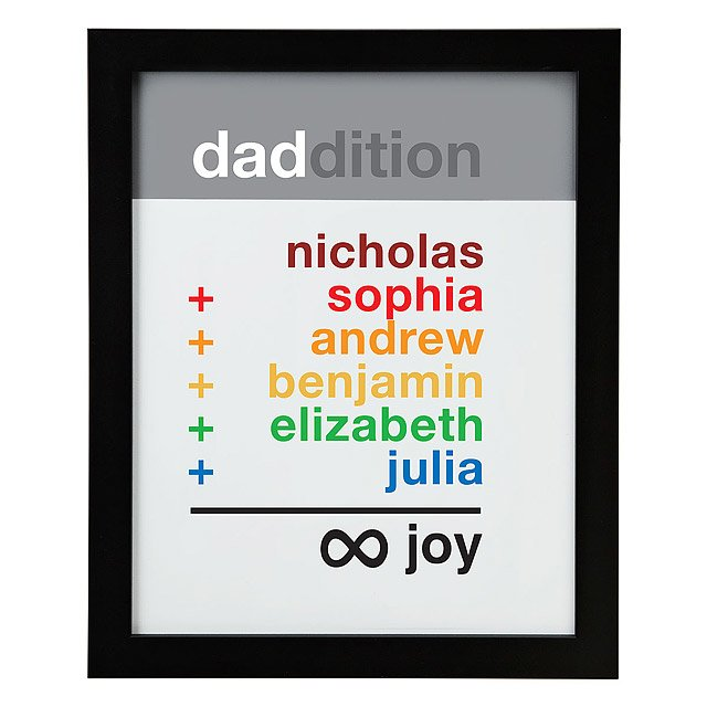 Dad Infinite Joy Personalized Art 2