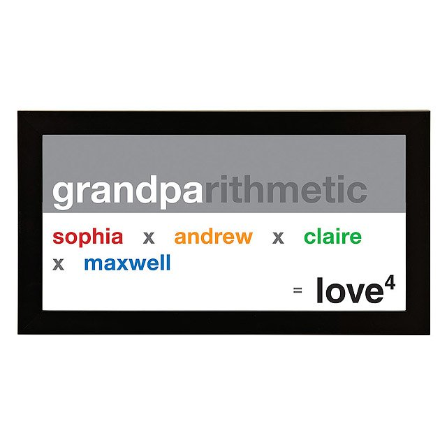 Grandpa Exponential Love Personalized Art