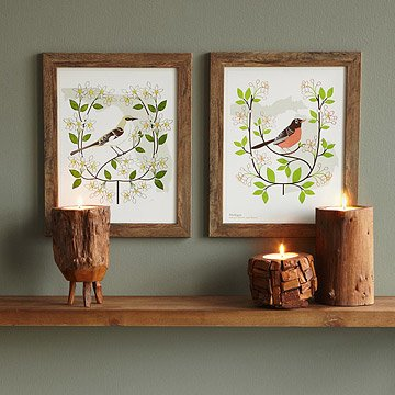 Birds and Blooms Art - Individual States