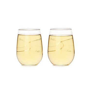 Have & Hold Stemless Wine Glasses - Set of 2