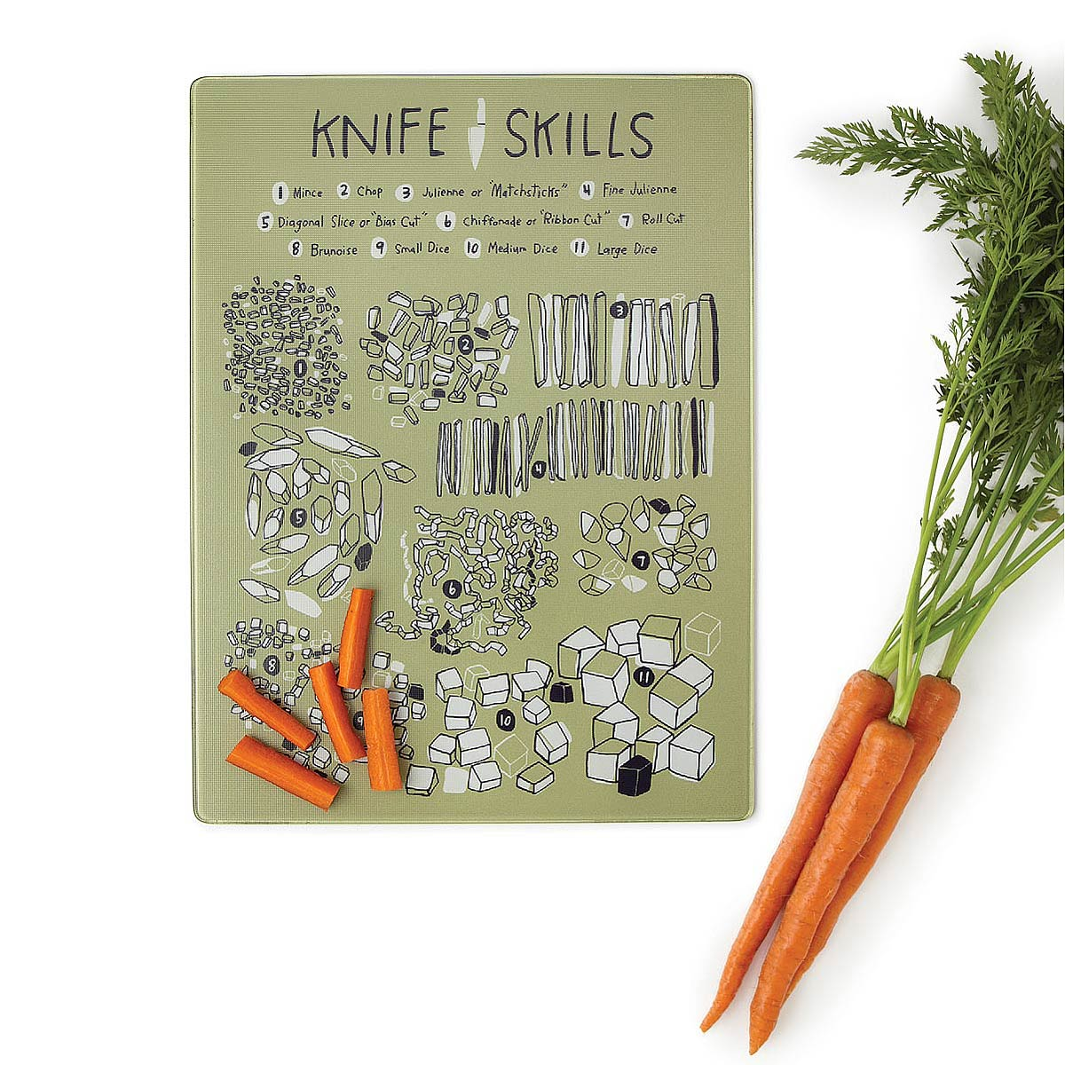 knife skills cutting board  cooking illustrated  uncommongoods, Kitchen design