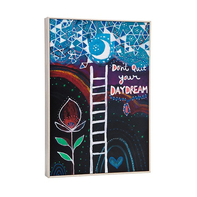 Don't Quit Your Daydream Framed Art Block 2