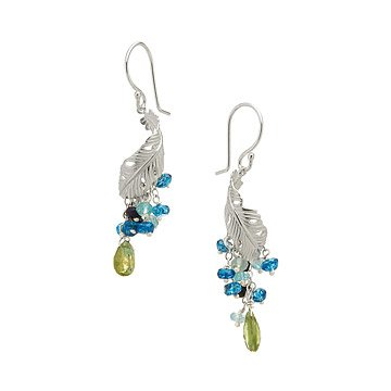 Peacock Plume Earrings
