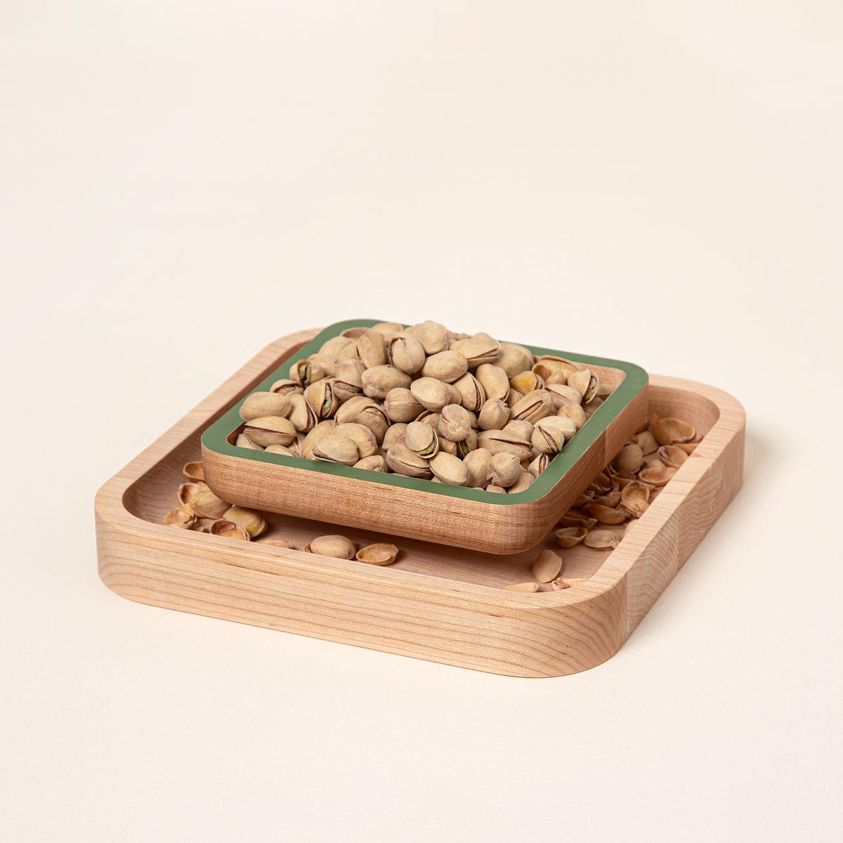 Gift Ideas For Wedding Host Couple : Pistachio Pedestal nut bowl, shelled pistachios UncommonGoods