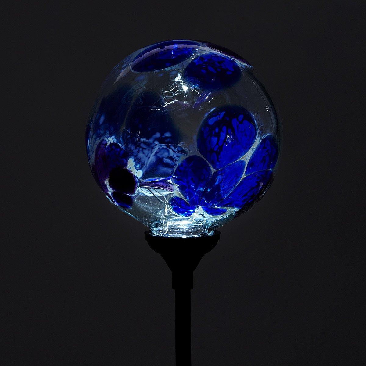 Garden Globe Lights Solar : Solar light garden stake flower globes art