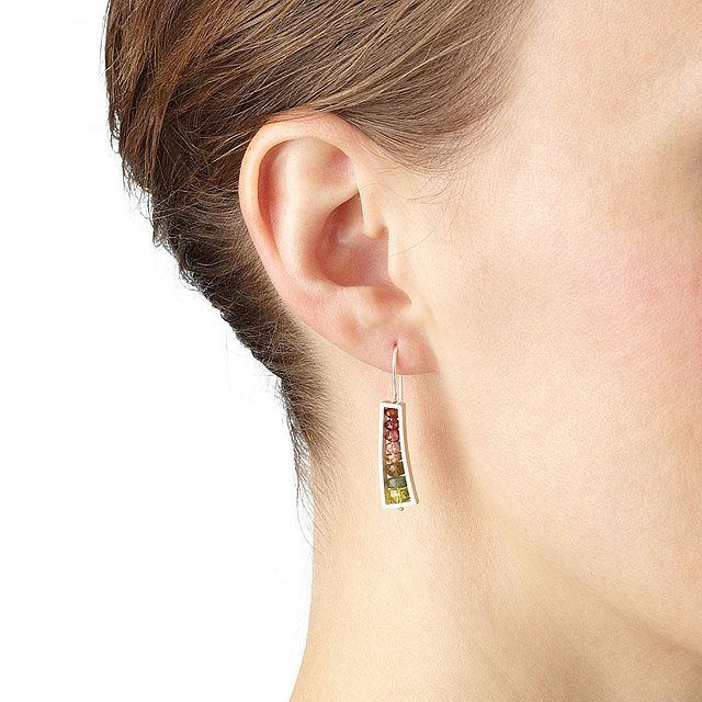 Watermelon Wedge Earrings 2