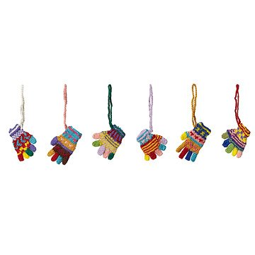 Peruvian Knit Gloves Ornaments