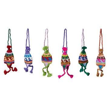 Peruvian Knit Hat Ornaments - Set of 6