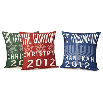 Family Holiday Pillows