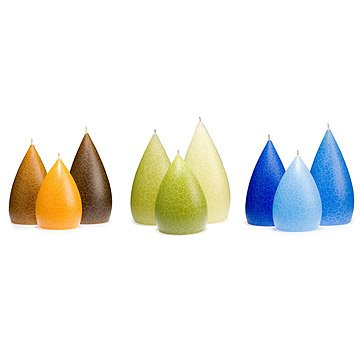 Teardrop Candle Trio