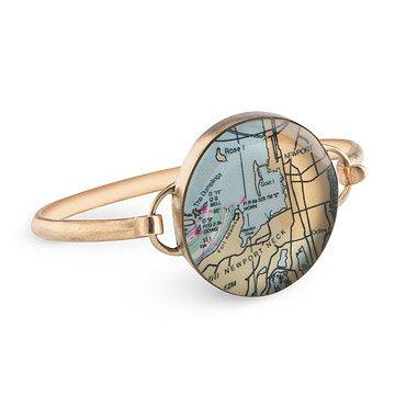 Custom Map Bracelet