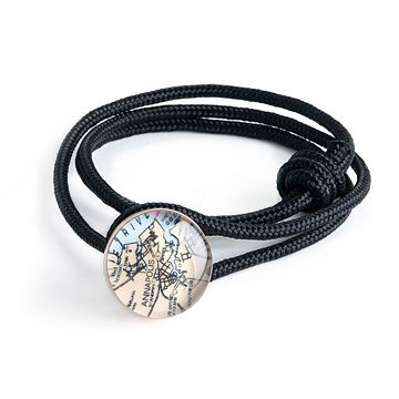 Custom Map Nautical Bracelet