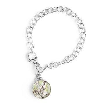 Custom Map Charm Bracelet