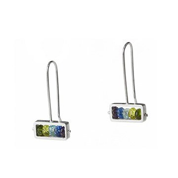 Horizontal Stone Earrings