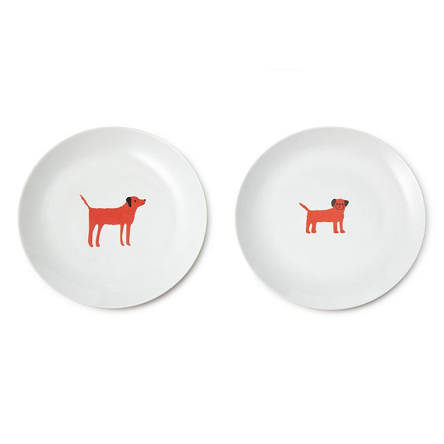 Red Dog Plate Set