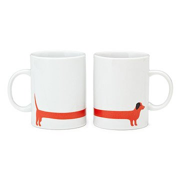 Red Dog Mug Set