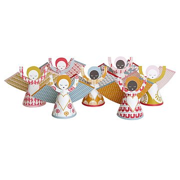 Sing Angel Ornaments - Set of 7