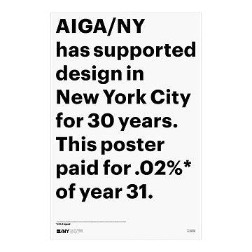 AIGA/NY 30th Anniversary Poster - Scott Stowell