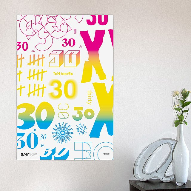 AIGA/NY 30th Anniversary Poster-Project Projects 2