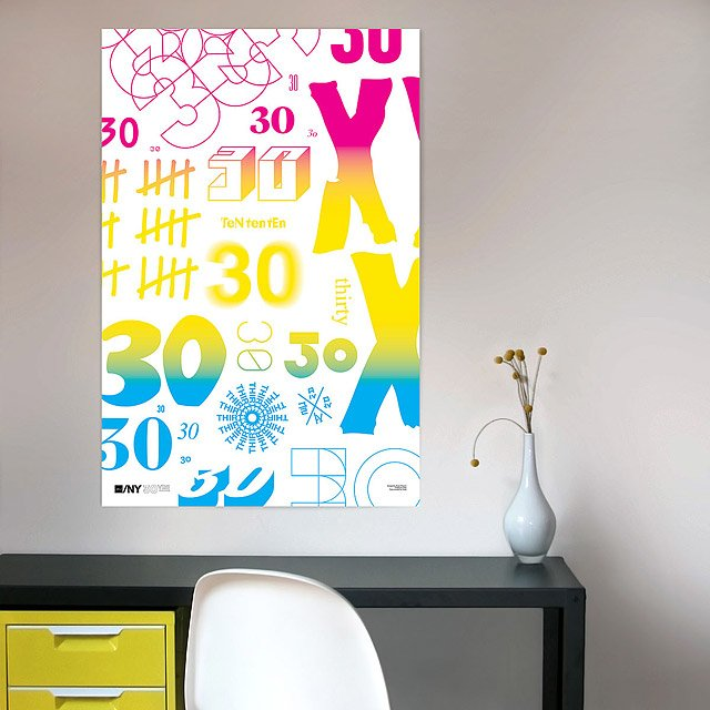 AIGA/NY 30th Anniversary Poster-Project Projects 3
