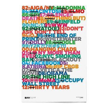 AIGA/NY 30th Anniversary Poster - Emily Oberman