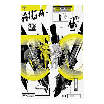AIGA/NY 30th Anniversary Poster - Karlssonwilker