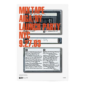 AIGA/NY 30th Anniversary Poster - Michael Bierut