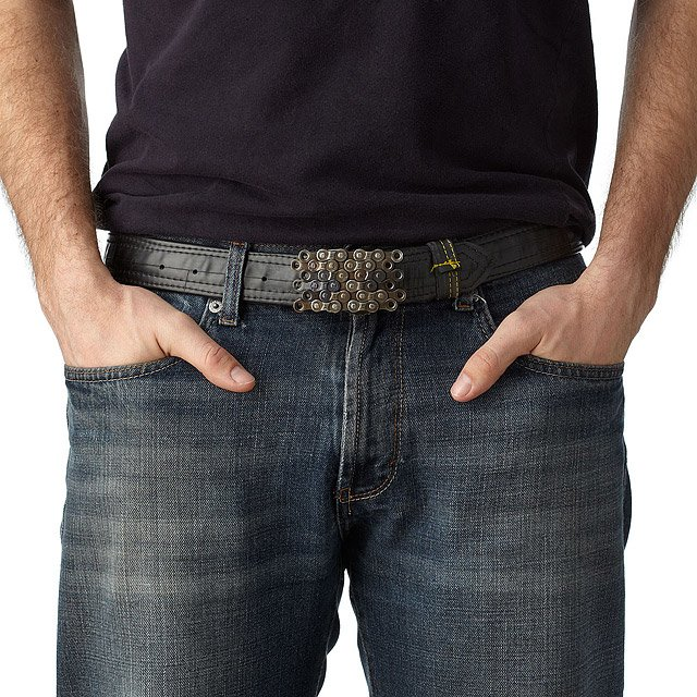Bike Tube Belt with Layered Chain Buckle 2