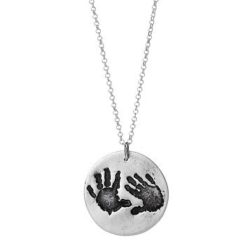 Custom Baby Handprint Necklace