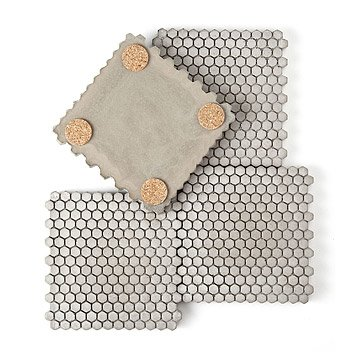 Concrete Hexagon Coasters - Set of 4