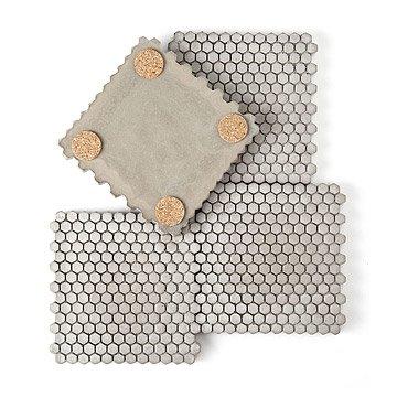 Concrete Hexagon Coasters - Set of 4
