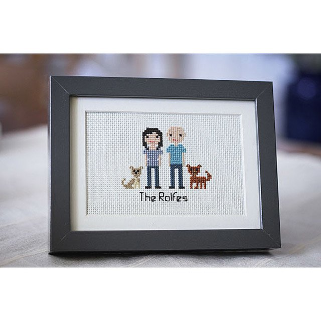 Custom Cross Stitch People Portrait 3