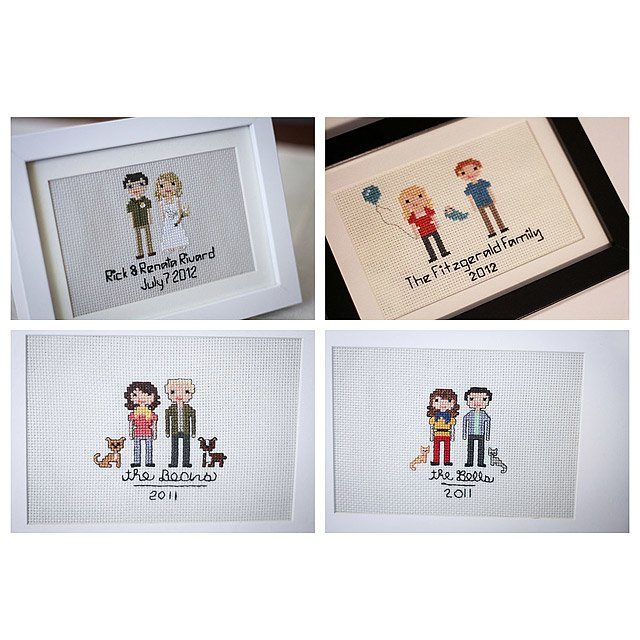 Custom Cross Stitch People Portrait 4
