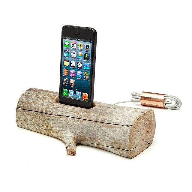 Driftwood iPhone Charging Dock