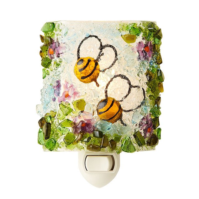 Recycled Glass Bumblebee Nightlight