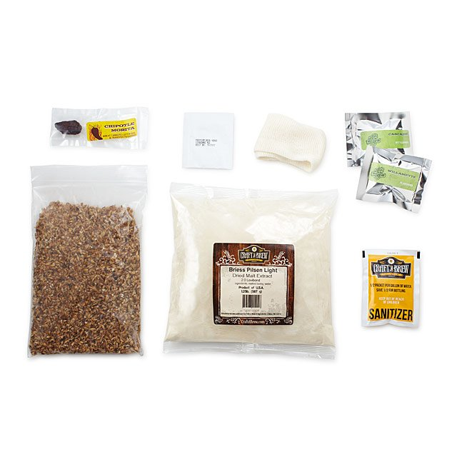 Texas Chipotle Amber Beer Brewing Kit 5