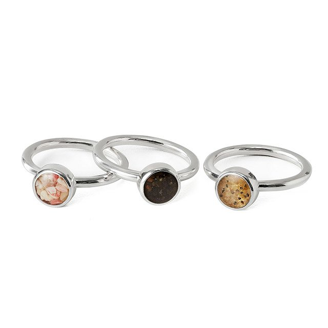 Custom Beach Stacking Rings - Set of Three