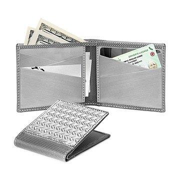RFID-Blocking Herringbone Bifold Wallet