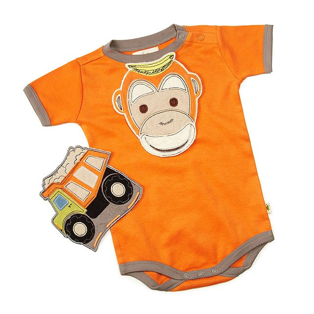 Drool-proof Bibs and Babysuit 3 Pc Set - Orange 1