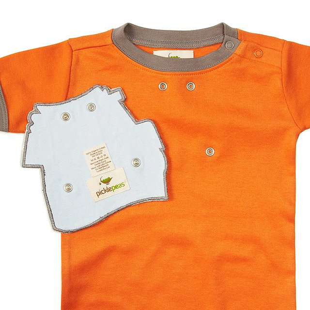 Drool-proof Bibs and Babysuit 3 Pc Set - Orange 2