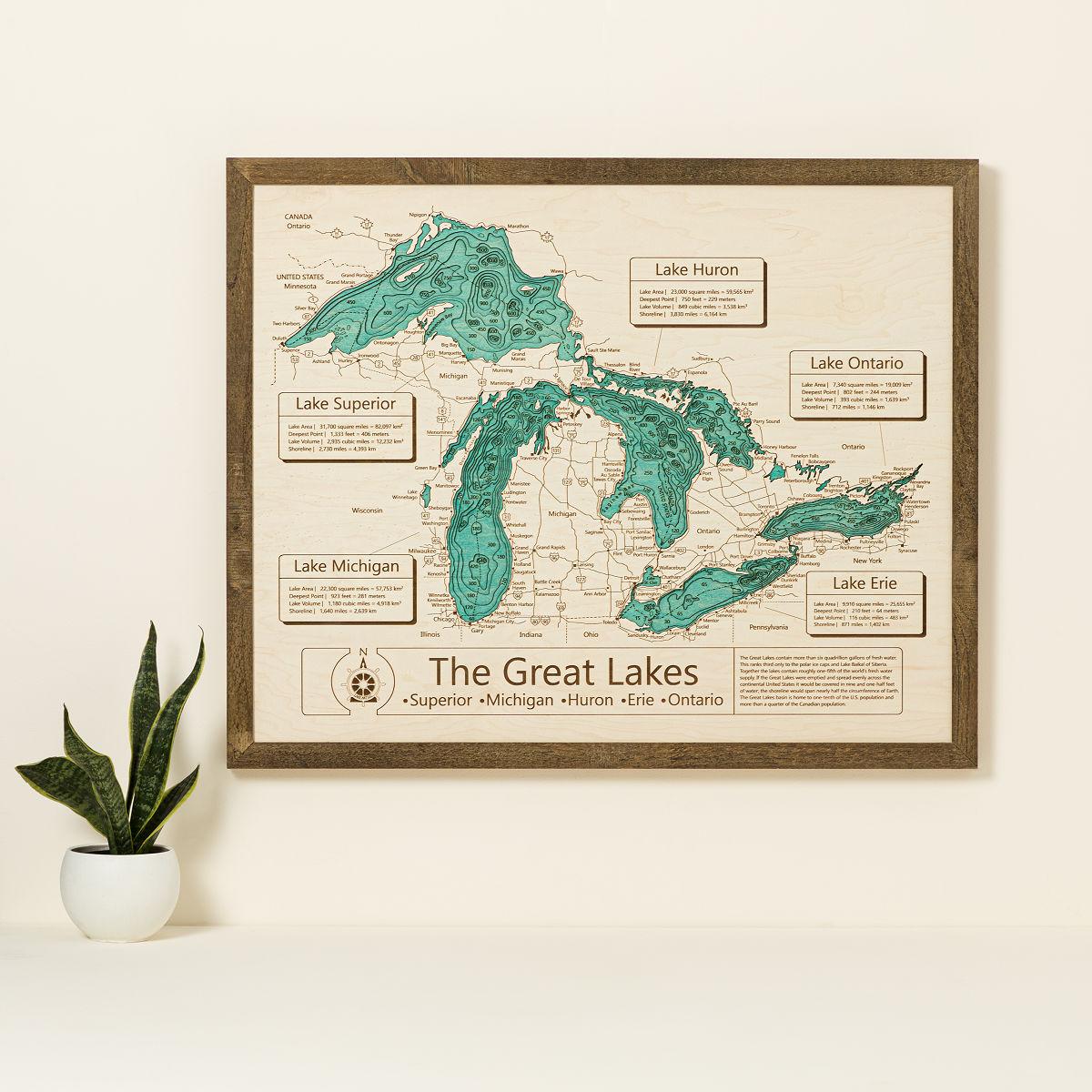 Lake Topography Art