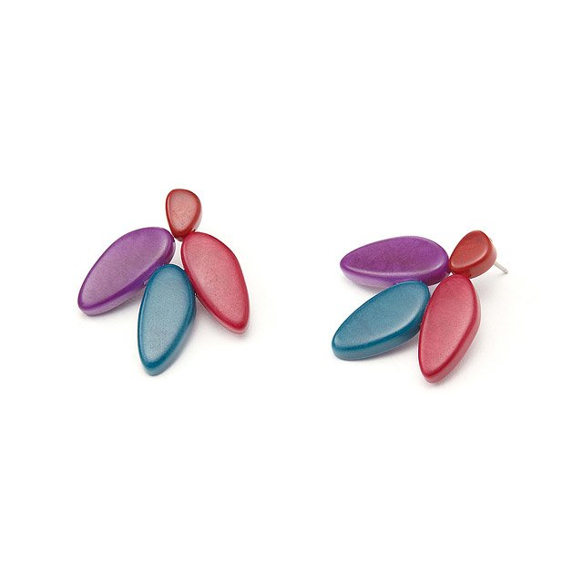 Tagua Yuyu Earrings