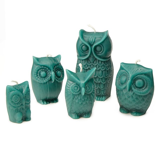 Owl Candles - Set of 5