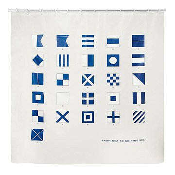 Maritime Signal Flags Shower Curtain