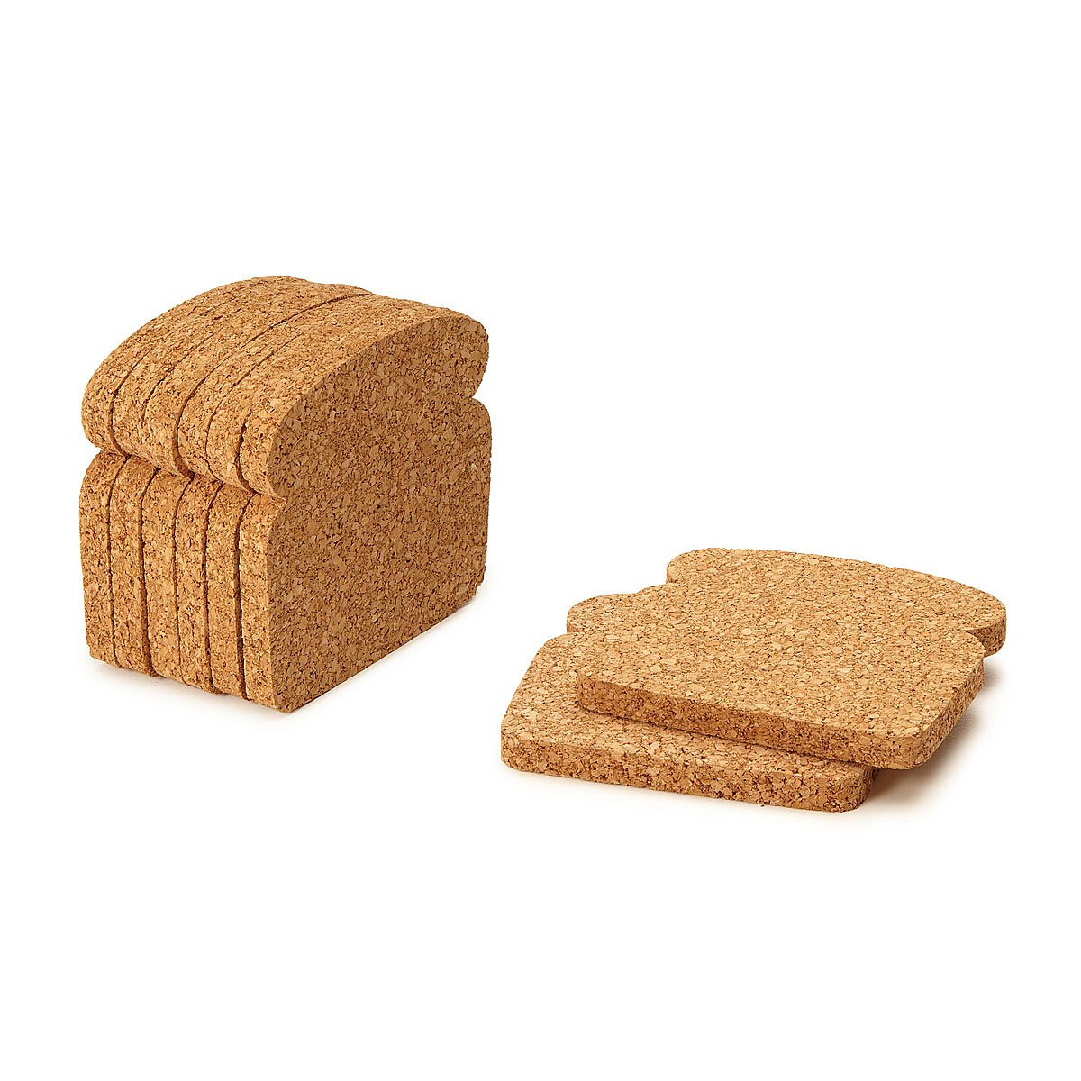 toast coasters set of 8 toast bread cork coasters uncommongoods